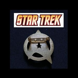 Limited 18k Gold Plated Star Trek Logo Metal Pin Boutique